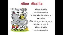 Aline abeille phonetique