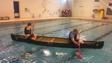 Canoe techniques in the MVHS pool